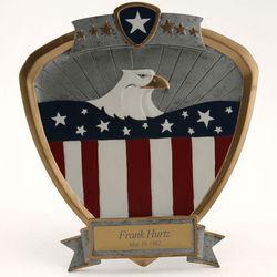 Eagle Resin Shield Plaque