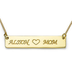 Personalized Nameplate Necklace for Mom