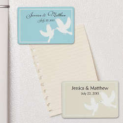 White Doves Wedding Favor Personalized Magnet