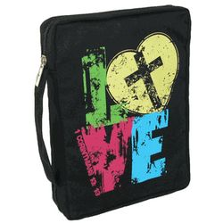 Christian Art Love Canvas Bible Cover