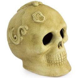 Ivory Offering Ceramic Skull Figurine
