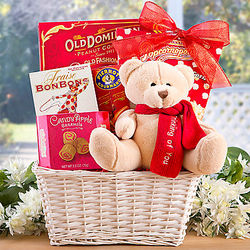 Thinking of You Gift Basket with Teddy Bear