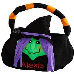 Witch Personalized Trick or Treat Bag