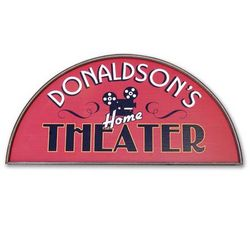 Crescent Home Theater Personalized Sign