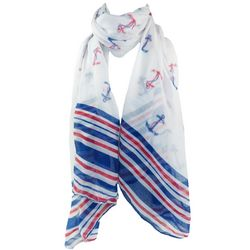 Anchors and Stripes Scarf