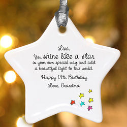 Personalized Shine Like a Star Ornament