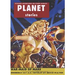 Maiden of War Sci-Fi Magazine Cover Print