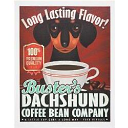 Personalized Coffee House Dog Breed Canvas Wall Art