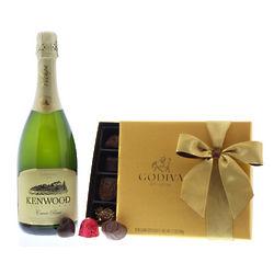 Kenwood Yulupa Cuvee Brut Wine and Godiva Chocolate Gift Set