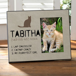 Definition of My Cat Personalized Photo Frame