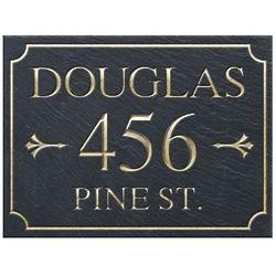 3 Line Rectangular Slate Address Plaque