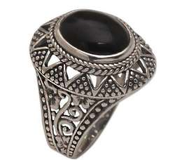 Midnight Light Onyx Cocktail Ring