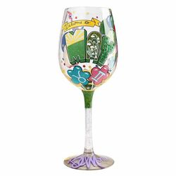 May Birthday Wine Glass