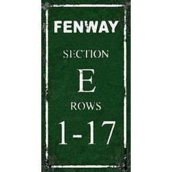 Fenway Park Section E Sign