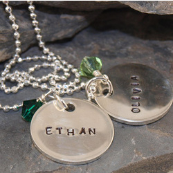 Personalized Thick Petite Disc Necklace