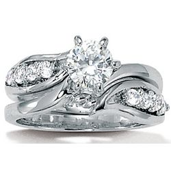 DiamonUltra Cubic Zirconia Wedding Set