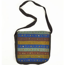 Embroidered Mirrored School Bag