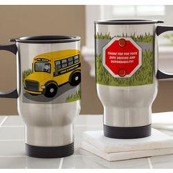 Personalized Bus Driver Travel Mug