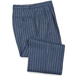 Striped Linen Pleated Trousers