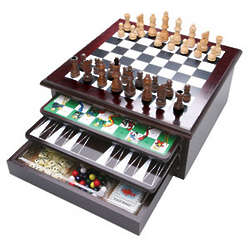 15-in-1 Wooden Game Center