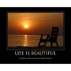 Life Inspirational Personalized Sunset Print