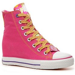Glitter Wedge Sneaker