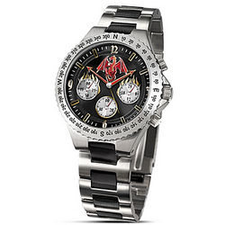 Dragon Art Stainless Steel Chronograph Men's Watch