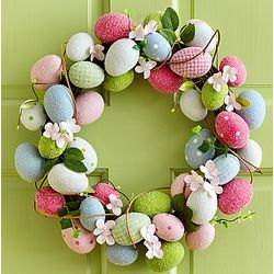 Easter Egg and Vine Wreath