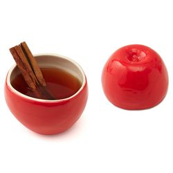 Red Delicious Apple Earthenware Cup