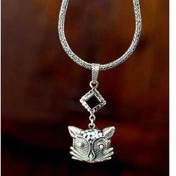 Cat's Passion Garnet Pendant Necklace