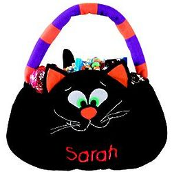 Personalized Cat Trick or Treat Bag