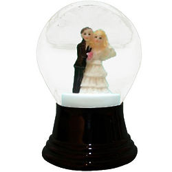 Bride and Groom Snow Globe