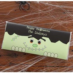 Personalized Halloween Frankenstein Candy Bar Wrappers