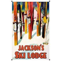 Personalized Ski Lodge Metal Sign