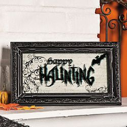 Happy Haunting Framed Sign