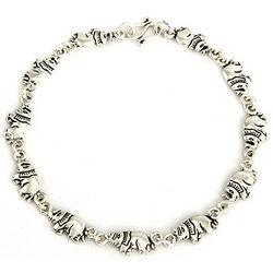 Sterling Silver Lucky Parade of Elephants Bracelet