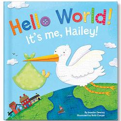 Baby's Personalized Hello World! Board Book