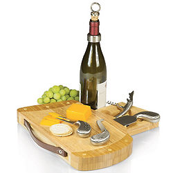Golf Caddy Cheese Board with Wine Tools