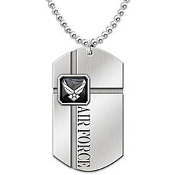 For My Airman U.S. Air Force Stainless Steel Men's Dog Tag