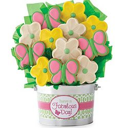 Have a Fabulous Day Daisy Cookie Flower Pot