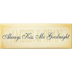 Always Kiss Me Goodnight Personalized Canvas