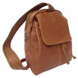 Small Leather Drawstring Backpack