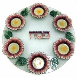 Sunflower Seder Plate