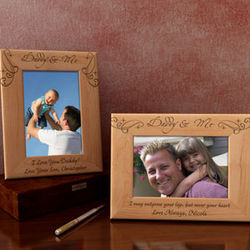 Personalized Royale Daddy & Me Wooden Picture Frame