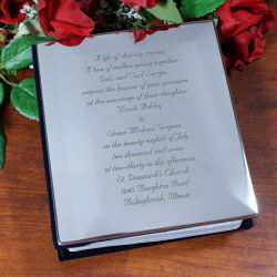 Personalized Wedding Invitation Silver Album