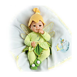 So Truly Real Baby Doll Dressed in Disney Tinker Bell Outfit