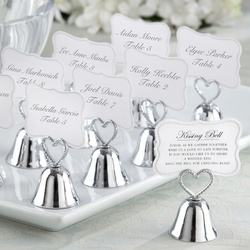 Kissing Bells Place Card/Photo Holder Set