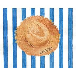 "Personalized ""David's Straw Hat"" Watercolor"