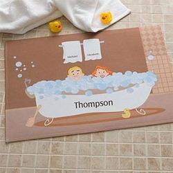 Personalized Bathtub Couple Bath Mat