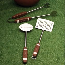 Football 3-Piece BBQ Tool Set